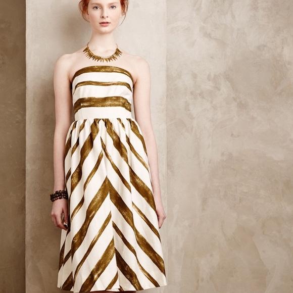 Anthropologie Dresses | Anthro Moulinette Souers Paint Stripe Midi ...